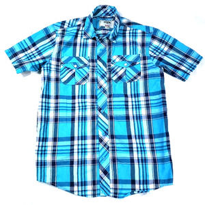 PJ Mark Check Button Front Short Sleeve Size Med